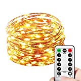 Best Rope Light For Seasonal Decoratives - HAHOME Dimmable Copper Wire String Lights, Waterproof Starry Review