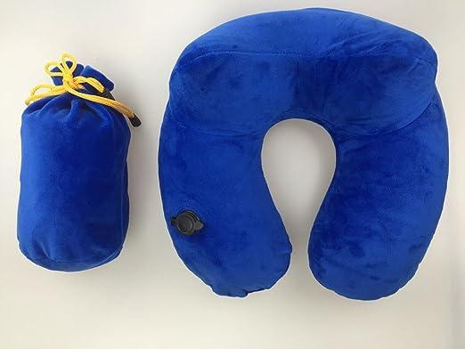 Proteger la columna cervical de viaje hinchable de almohada ...