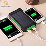 UNAKIM--Waterproof Solar Power Bank 10000mAh Dual USB LED Cell Phone Charger