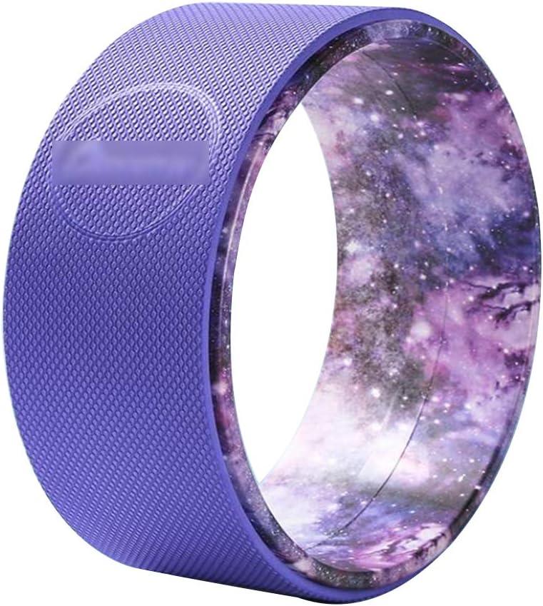 ALYR Rueda de Yoga, Antideslizante Rodillo de Pilates más Fuerte y más cómodo Yoga Wheel Yoga Accesorio Dolor de Espalda, Estiramiento, para Mejorar la flexibilidad y Backbends,Purple_33cm: Amazon.es: Hogar