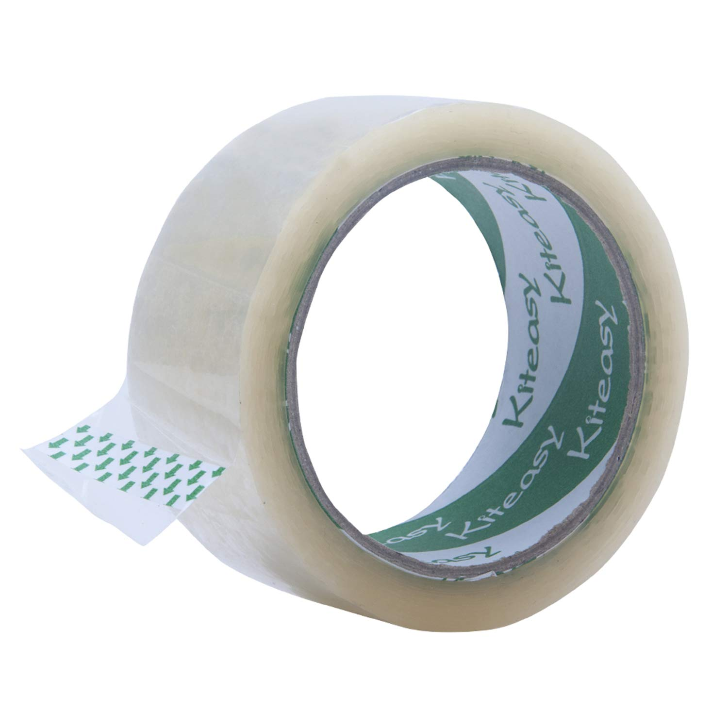 Heavy Duty Packing Tape - KITEASY Clear Shipping Packaging Tape Luggage Packing Tape Refill For Moving, Shipping, Storage, Office Including 6 Rolls 1.8in x 65Yd 3.2mil Thickness