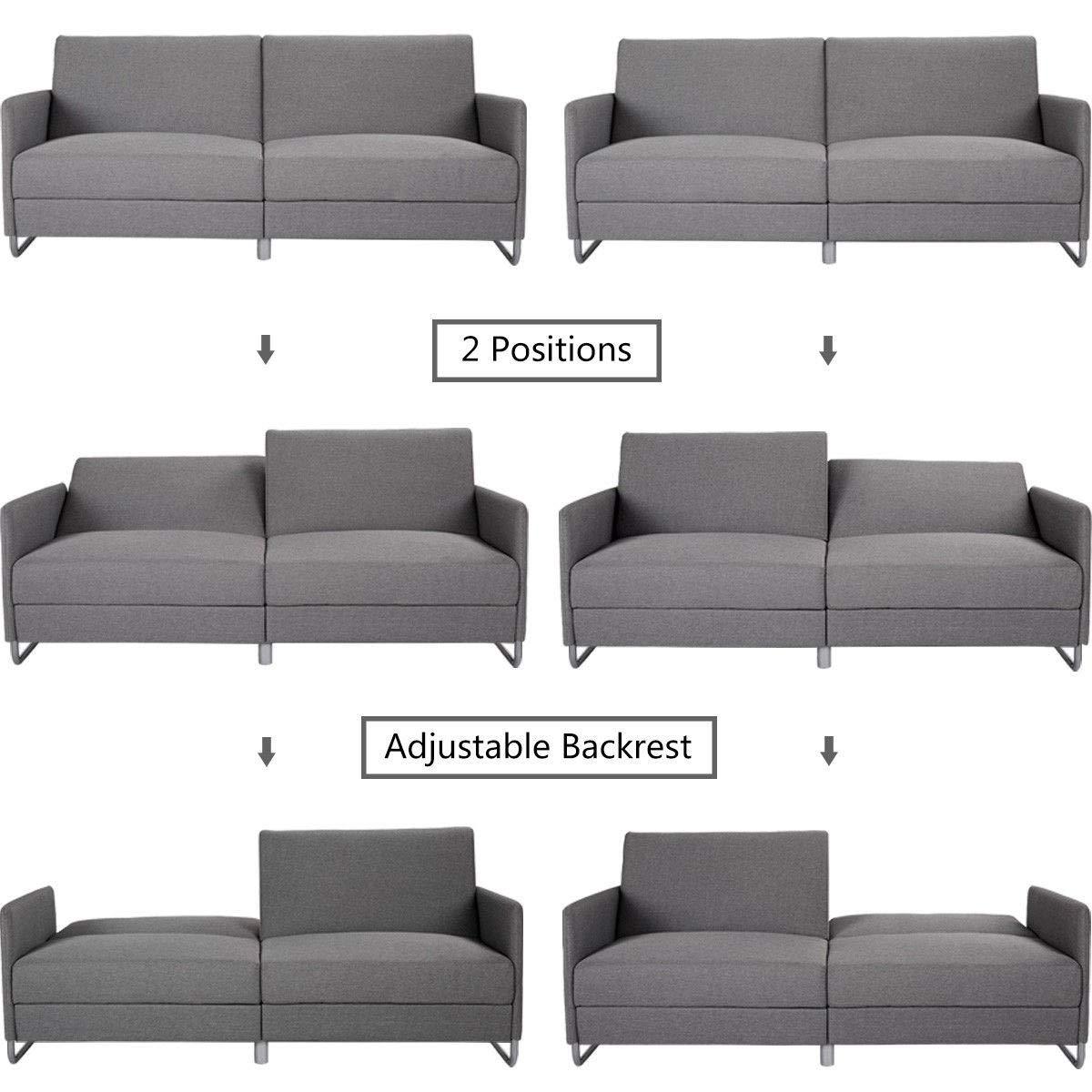 Amazon.com: Modern Futon Convertible Recliner Couch ...