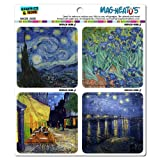 Graphics and More Famous Vincent Van Gogh Paintings Starry Night Irises Mag-Neato's Car Refrigerator Locker Vinyl Magnet Set