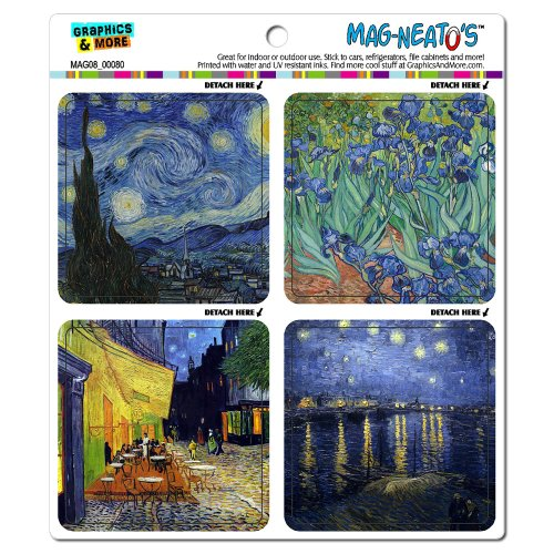 van gogh fridge magnet - 9
