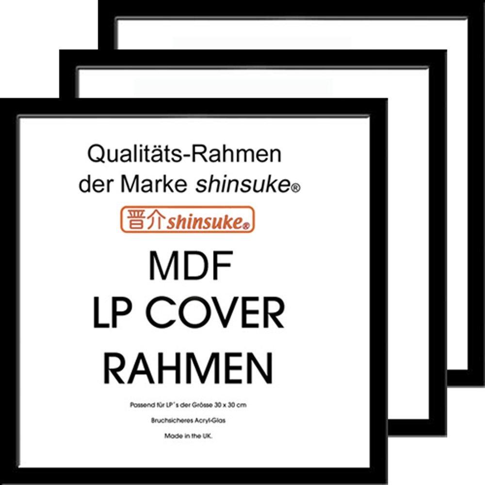 Amazon.de: Empireposter - LP Plattencover Rahmen - 3er-Set MDF innen ...