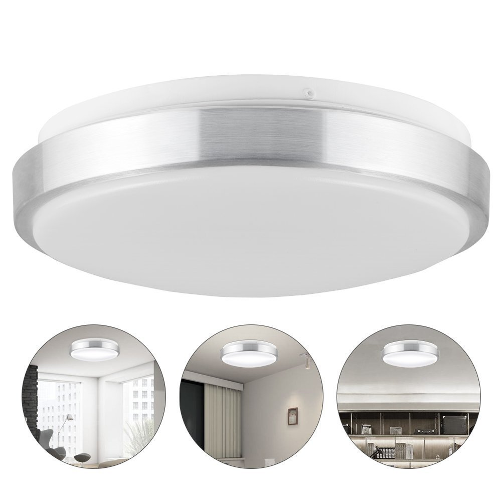 Ledgle 13W LED Ceiling Lights, 10in, 110W Incandescent Bulbs Equivalent, 960lm, Lighting for Bathroom, Kitchen, Hallway, Flush Mount Ceiling Light, 6000K Daylight White by Ledgle