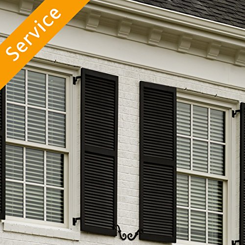 Exterior Decorative Window Shutter Installation - Replacement - 3-4 Windows by Amazon Home Services