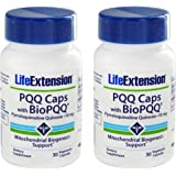 Life Extension PQQ Caps with BioPQQ 10 mg, 30 Vcaps  (2 Pack)