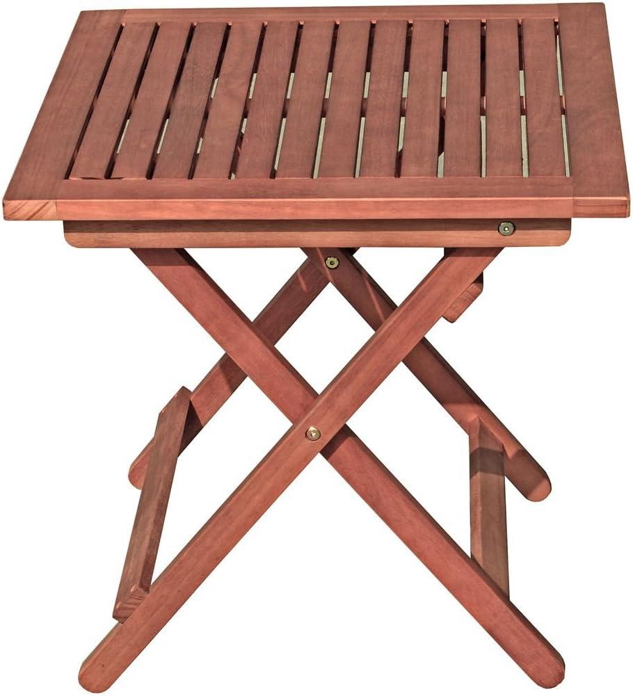 Mesa de jardín Garden Pleasure Berea 50 x 50 cm, mesa plegable de ...