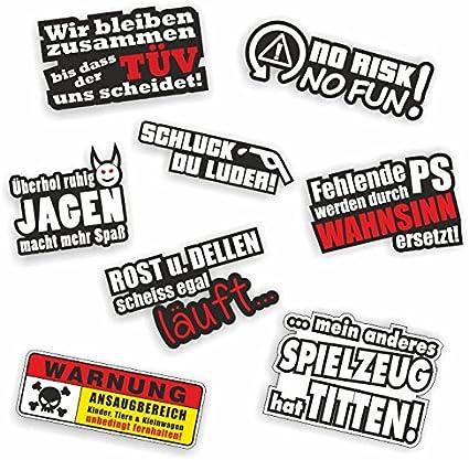 8 Sticker Set Shocker Hand Car Sticker Jdm Tuning Oem Dub Decal Stickerbomb Bombing Sticker Illest Dapper Fun Old School Auto