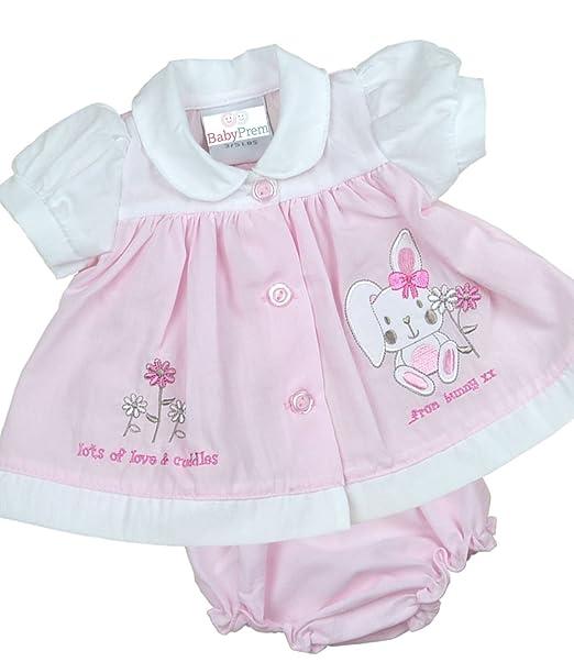 3f59c21fd Amazon.com  BabyPrem Premature Baby Dress Knickers Set Bunny Preemie ...