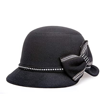 DIMDIM MYCHOME Sombrero de Mujer Sombrero de Lana de Doble Cara ...