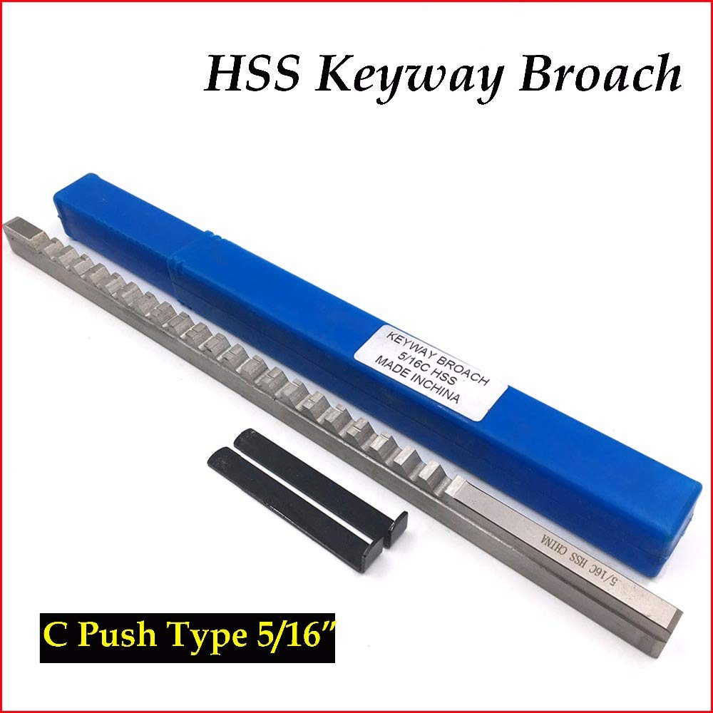 5//16 C Push-Type HSS Keyway Broach Inch Sized Cutting Tool for CNC Engraving