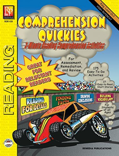 Comprehension Quickies (Reading Level 1) | Reproducible Activity Book