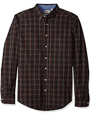 Men's Big and Tall Long Sleeve Poplin Shirt with Stretch