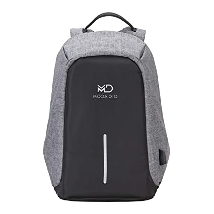 2175e9ee18 Amazon.in  Buy MODA DIO Vogue BPK13 Waterproof Anti Theft Laptop Casual Bag  with Charging Point (Black) Online at Low Prices in India