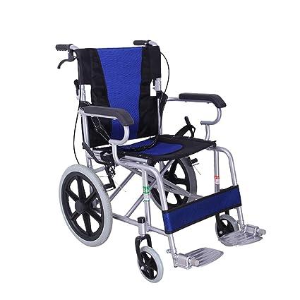 Silla de ruedas Transporte Ligero Silla De Ruedas Plegable Silla De Viaje Portátil De Aleación De