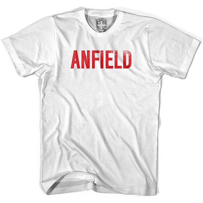 Liverpool Anfield camiseta de fútbol blanco blanco XL