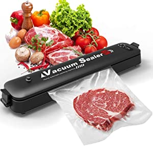 APQ Vacuum Sealer Machine with 10 Vacuum Bags. Automatic Food Saver Vacuum Sealer Machine. Portable Sealer Ideal for Food Preservation, Suitable for Dry & Moist Food. Led Indicator Lights, Compact Design. Easy to Clean.