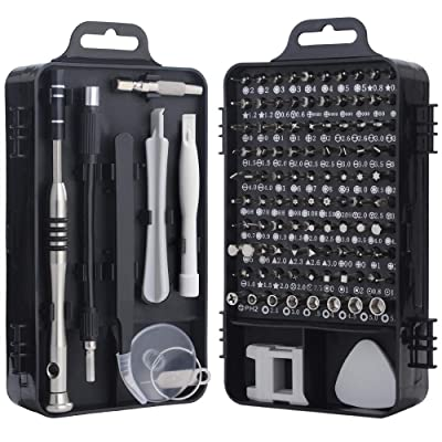 Screwdriver Set, Trekoo 110 in 1 Precision Screwdriver Repair Tool Kit Magnetic Driver Kit Professional Repair Tool Kit for iPhone X, 8, 7 / Cellphone/Computer/Tablet/PC/electronic etc (Black): Home Improvement [5Bkhe0401795]