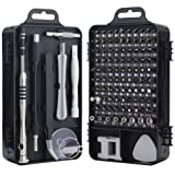 Screwdriver Set, Trekoo 110 in 1 Precision Screwdriver Repair Tool Kit Magnetic Driver Kit Professional Repair Tool Kit for iPhone X, 8, 7 / Cellphone/Computer/Tablet/PC/electronic etc (Color: 110 in 1)