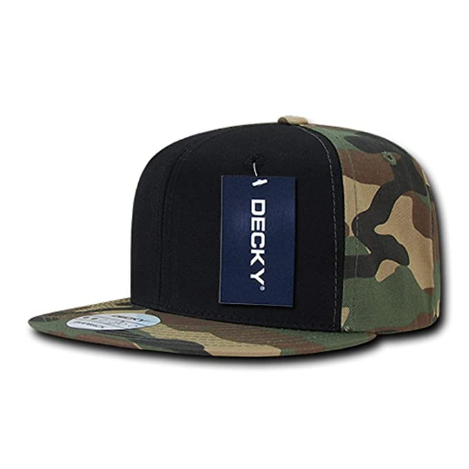 Image Unavailable. Image not available for. Color  Woodland Camo Camouflage    Black Flat Bill Cotton Snapback Baseball Cap Hat ebd10d3664fb