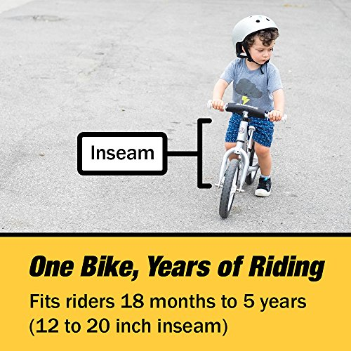 Strider - 12 Pro Balance Bike, Ages 18 Months to 5 Years, Silver by Strider (Image #4)
