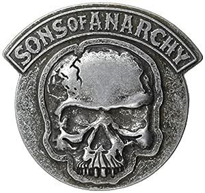 Sons of Anarchy Skull Gunmetal Belt Buckle: Amazon.es: Juguetes y juegos