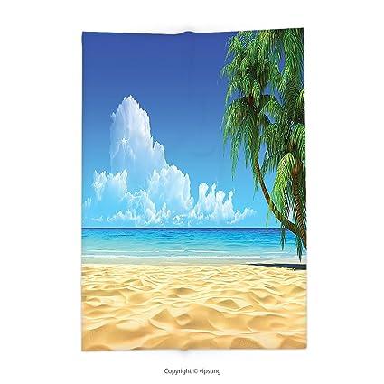 Beach Themed Throw Blanket Stunning Amazon Custom Printed Throw Blanket With Ocean Decor Palm Tree