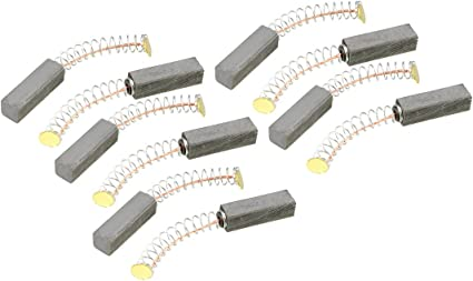 10/pezzi Sourcingmap/ /Spazzole di carbone per motore elettrico 11/mm x 6/mm x 4/mm di ricambio