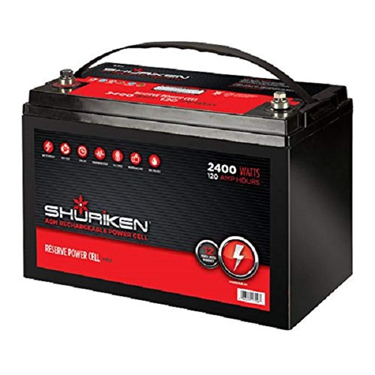 SHURIKEN 2400W 120AMP Hours Large Size AGM 12V Battery