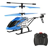 Mini RC Helicopter, EACHINE H101 Remote Control Helicopter Drone Toy for Kids 3.5 CH LED Light with Gyro