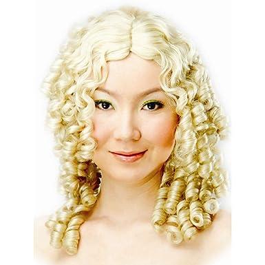 520ac79f6 Amazon.com  Dress Up America Blonde Curly Ringlets Wig  Clothing