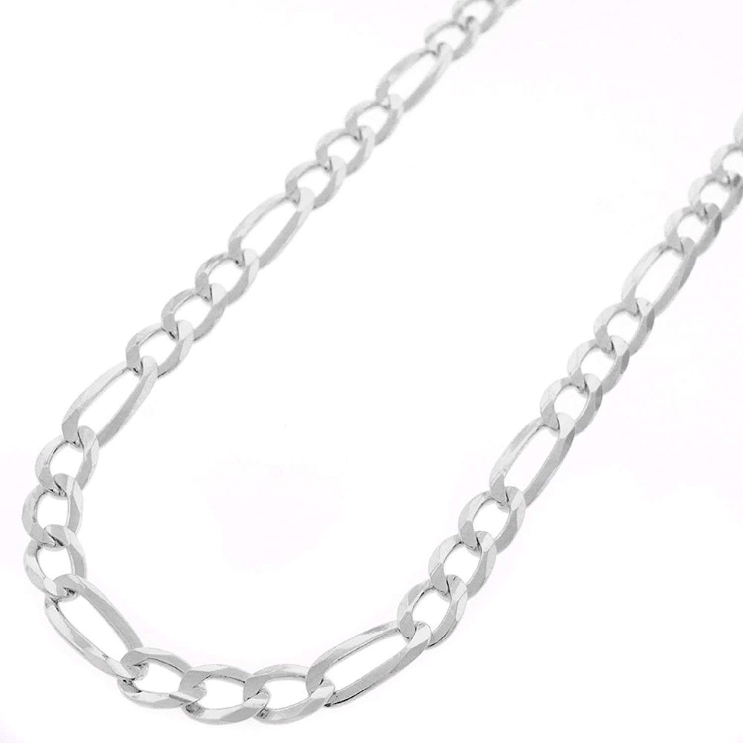 3a07152c6273c Sterling Silver Italian 5mm Figaro Link ITProLux Solid 925 Necklace ...