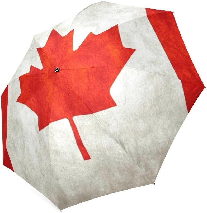 Customized unique de la bandera canadiense plegable lluvia ...