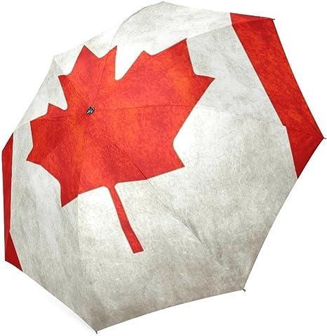 Customized unique de la bandera canadiense plegable lluvia paraguas/ sombrilla/paraguas de sol: Amazon.es: Deportes y aire libre