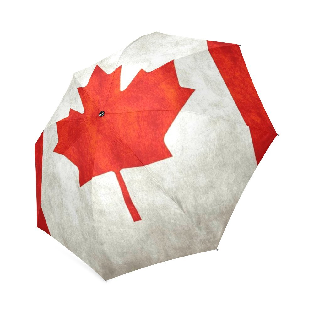カスタマイズUnique Canadian Flag折りたたみ雨傘/パラソル/太陽傘 B076F44N49