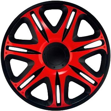 J-Tec J13512 Nascar - Tapacubos (33 cm), Color Negro y Rojo: Amazon.es: Coche y moto