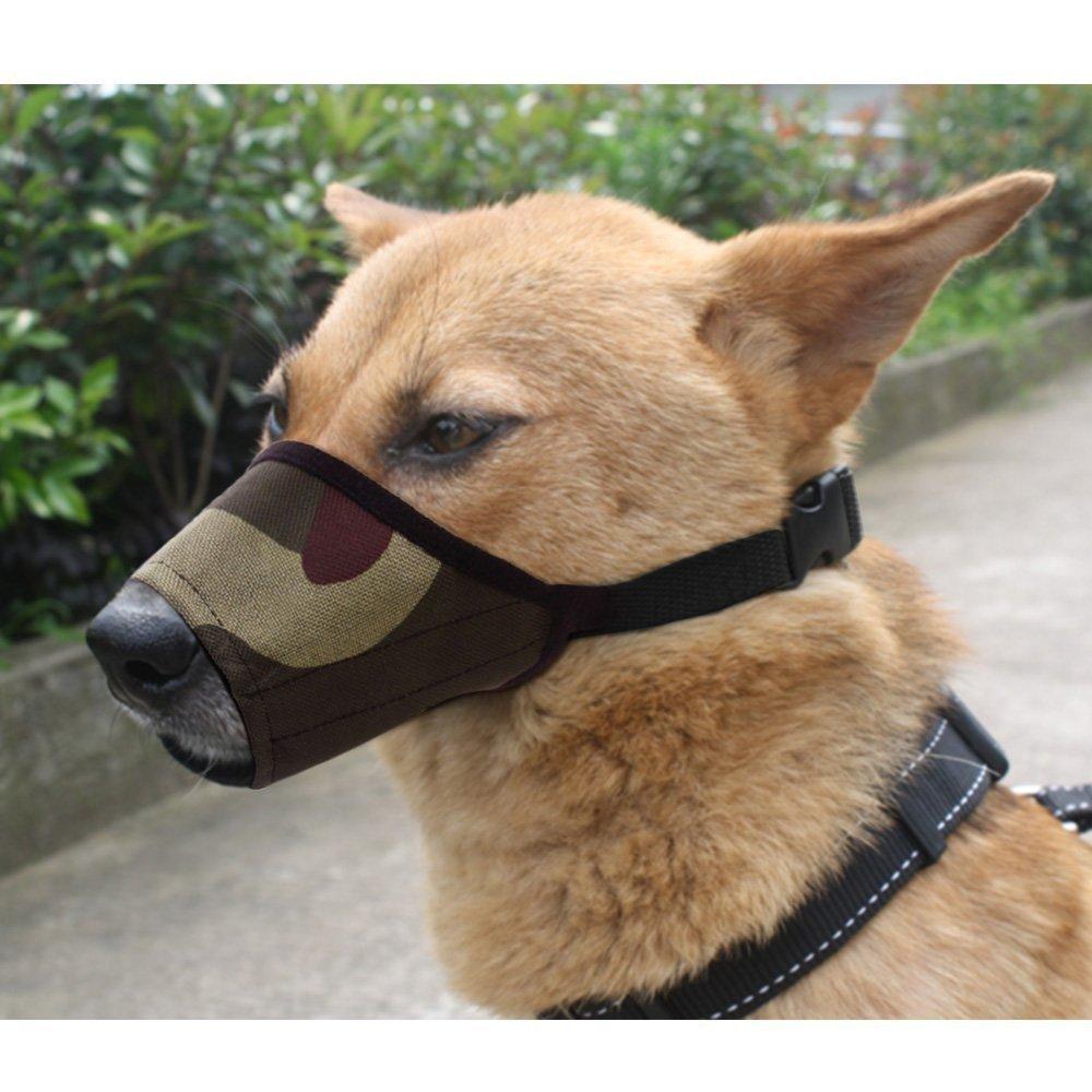 PetHot Dog Pet Muzle Mouth Cover Adjustable Safety Anti-biting Barking Mask Training Chew Control Black