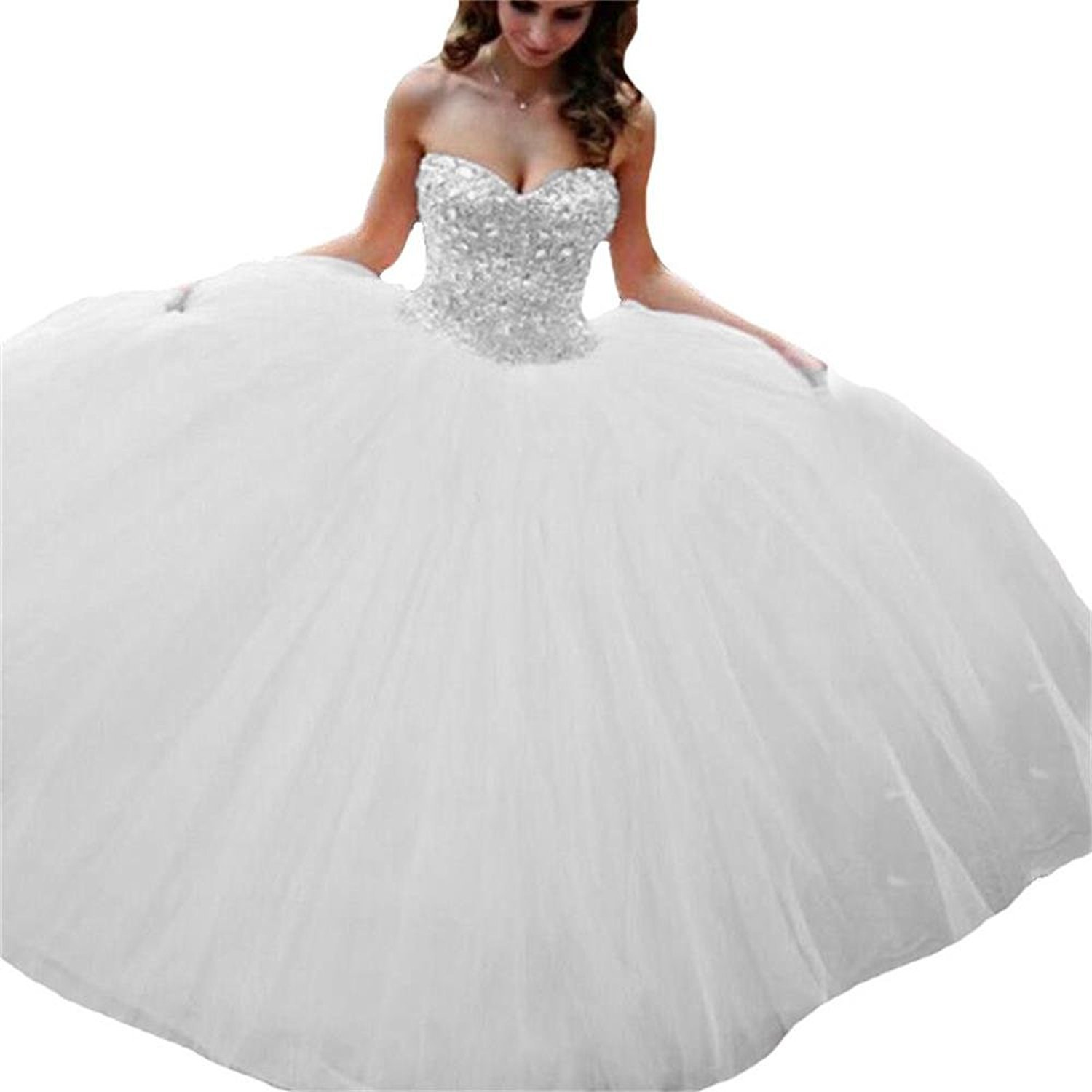 22a0be5c31 Amazon.com  Meledy Women s Sweetheart Beading Bodice Backless Ball Gown  Quinceanera Dresses  Clothing