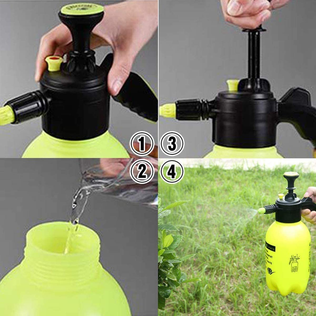 Wonninek Hand Held Garden Sprayer Pump Pressure Water Sprayers Garden 2L Hand Sprayer for Lawn