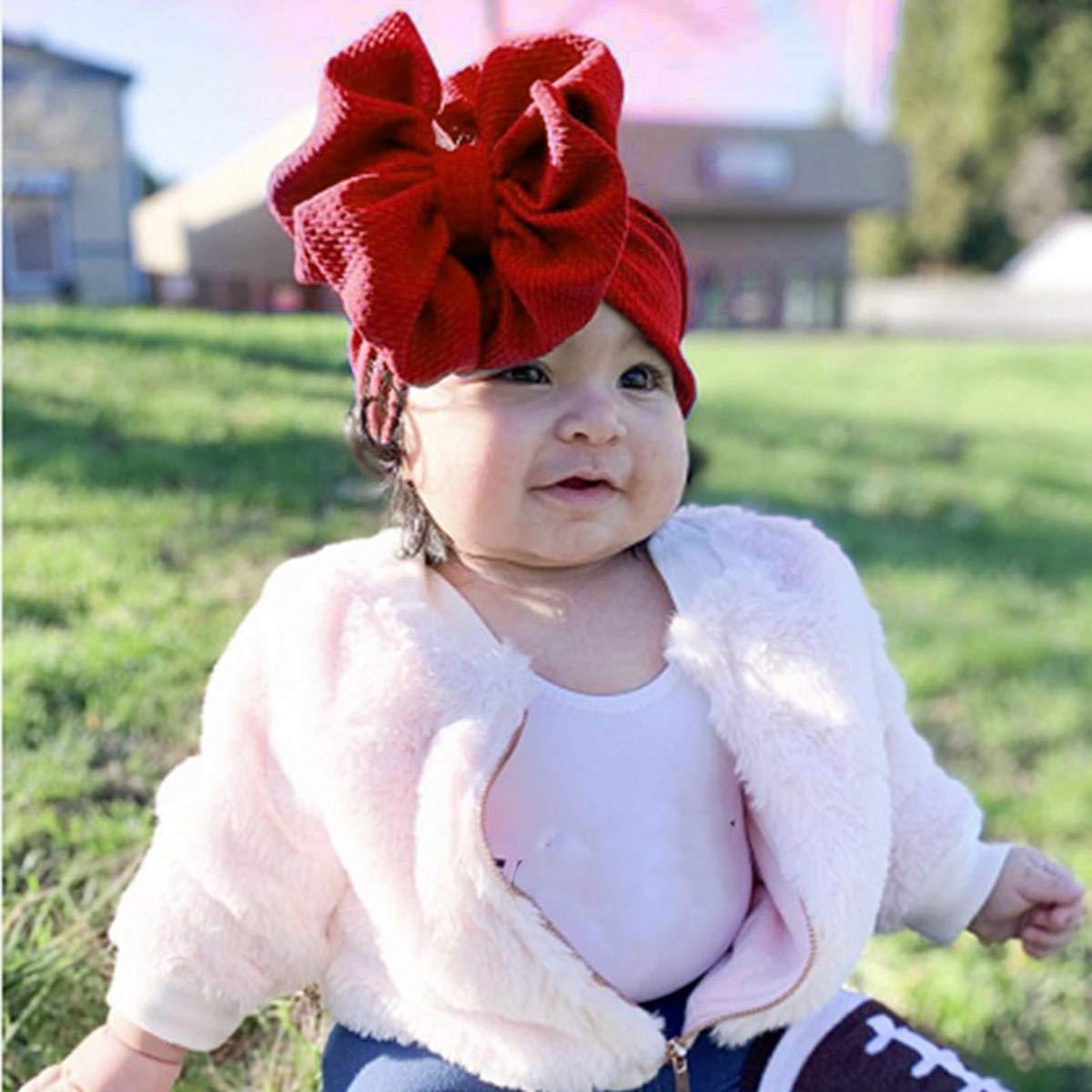 Neonati Svegli Toddlers Neonata Tinta Unita Elastico Bowknot Fascia Larga Tracolla Bow Headwrap Fascia annodata Morbida Color : Mint Green