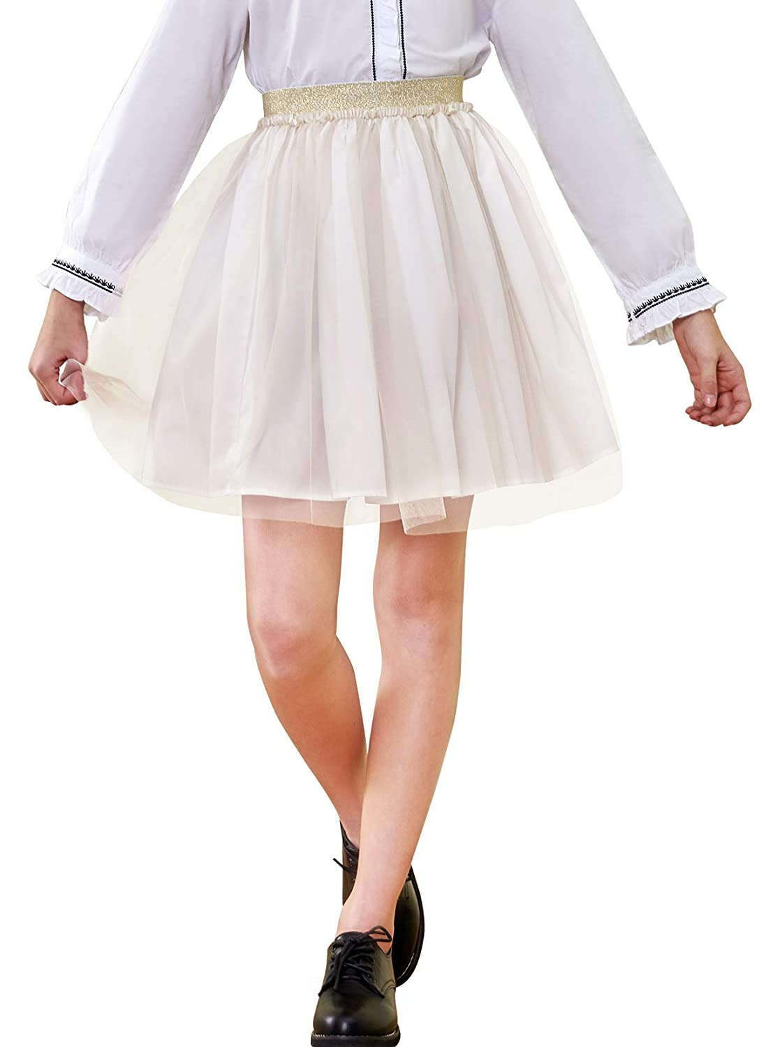 KIDPIK 3-Pack Pencil Skirts Knee Length Skirt for Girls 4 Years /& Up 3 Colors//Set Comfy Modest Clothing