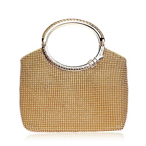 Handbag Gold Purse For Clubs Glitter Ladies Evening Women Party Diamante Bridal Bag Prom Shoulder Wedding Clutch Gift Bag wI4qSSHR