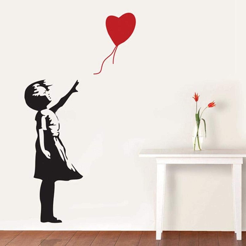 Banksy Balloons Girl Wall Decal Removable Sticker Vinyl Street Art Graffiti Fun