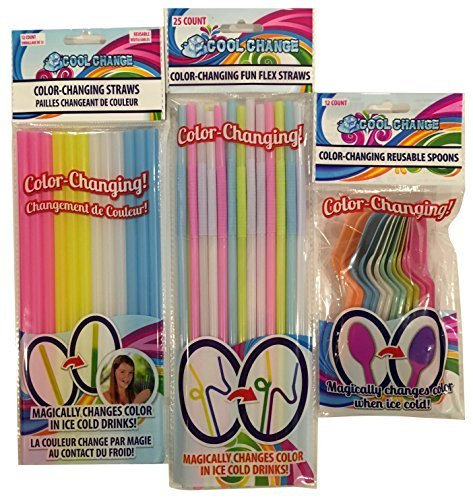 color Changing Straws and Spoons Cool Change Fun Everyday Theme by Cool Change