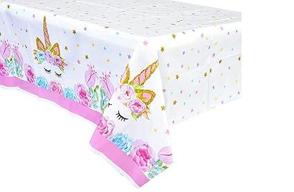 Amazon.com: Mantel de unicornio de plástico de tamaño grande ...