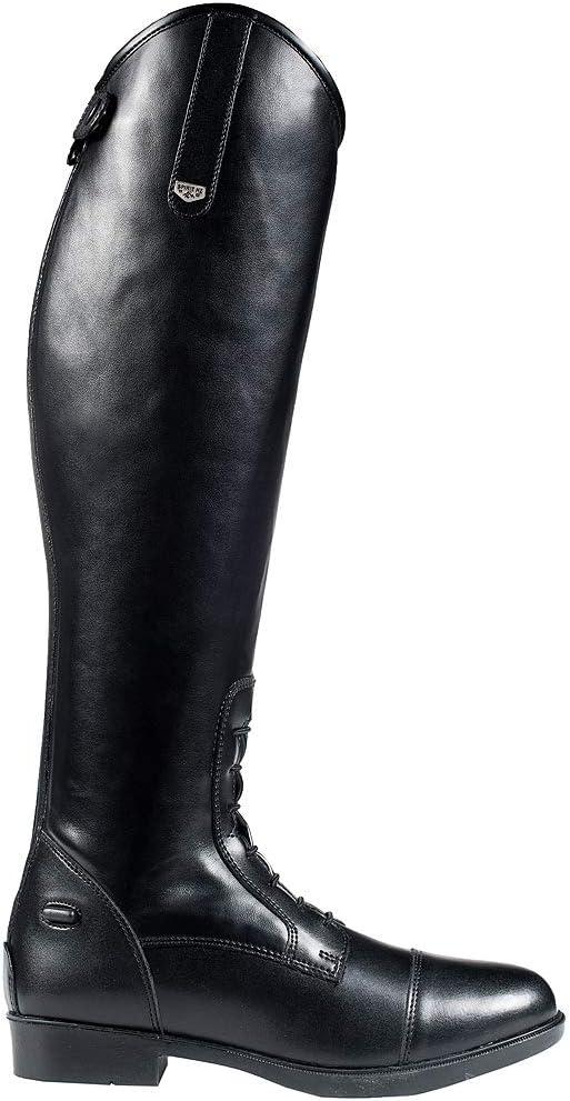 Horze 10 ワイドローバー 合成皮革レッグコンフォートフィールドトールブーツ ブラック