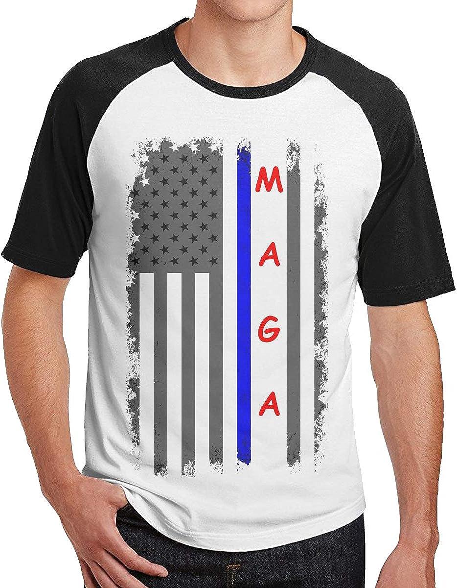 Eagle American Flag Mens Short Sleeve Baseball Shirt Funny Raglan Sleeve Tee