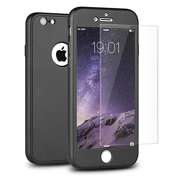 iphone 6 matte black case full body
